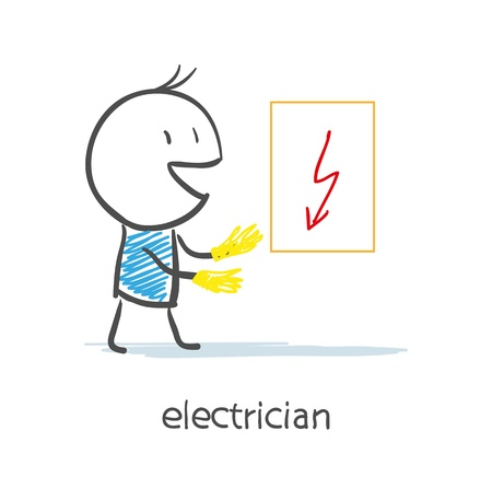 laboring: Electrician