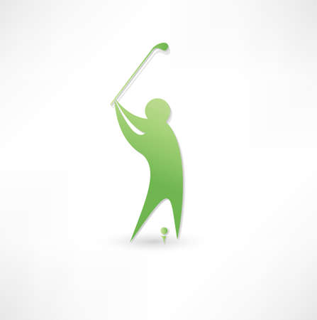 Golfer icon. photo