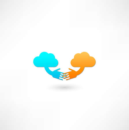 computering: Cloud computing icon Stock Photo