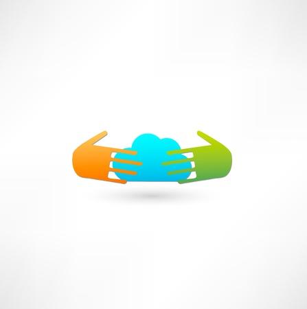Cloud computing icon photo