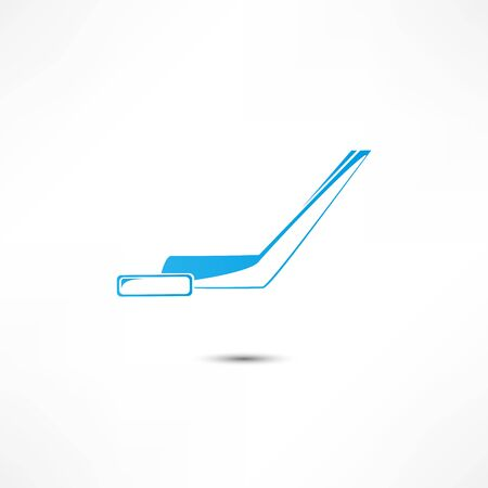the puck: Hockey Stick And Puck Icon Stock Photo