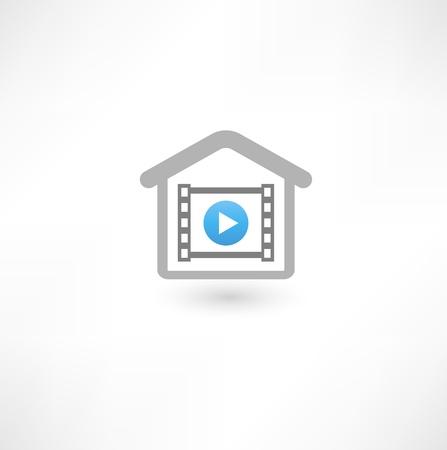 Home cinema icon Stock Photo - 16836342