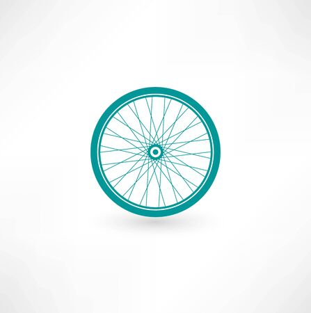 velocipede: Bicycle Wheel Symbol Stock Photo