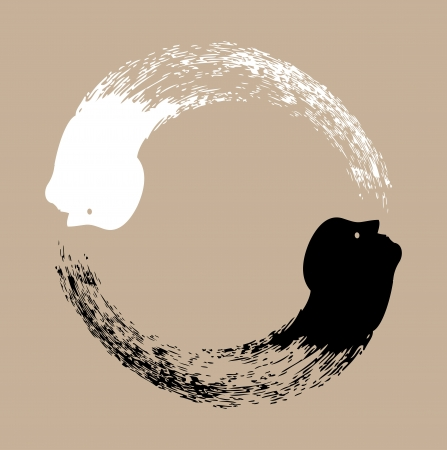 Taichi yin and yang photo