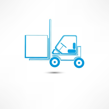 distribution picking up: Forklift truck icon