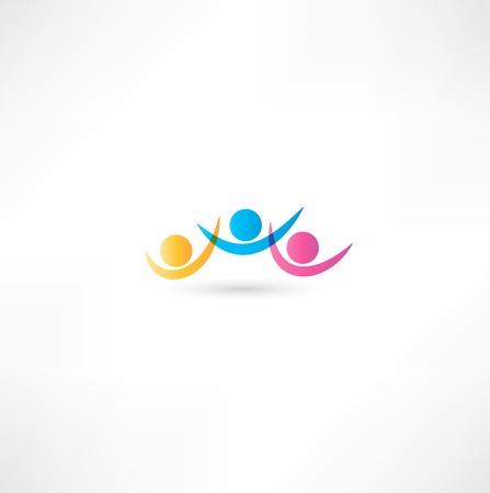 team icon. Stock Photo - 16839232