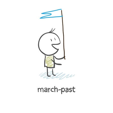 public servants: march-past Stock Photo