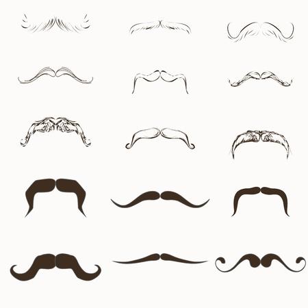 groucho: moustache Vector Set Stock Photo