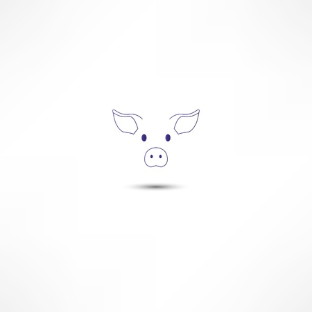 Pig Icon Stock Photo - 16836925