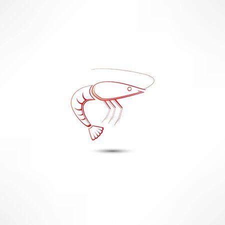 Shrimp Icon Stok Fotoğraf - 16839248