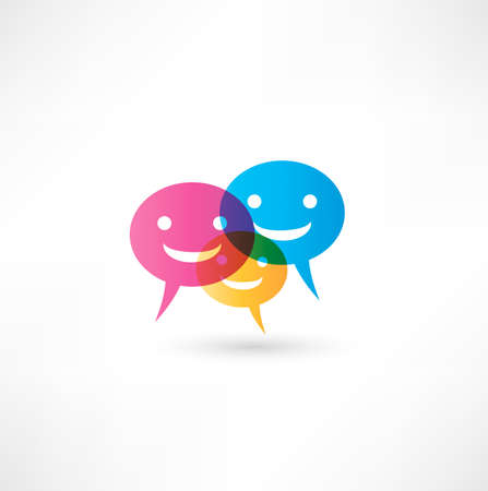 abstract smile talking bubble Stock Photo - 16839902