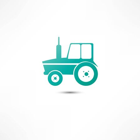 farmed: Tractor icon Stock Photo