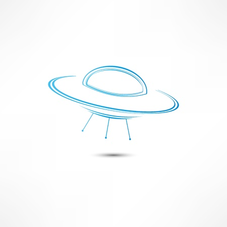 UFO Icono Foto de archivo - 16839375