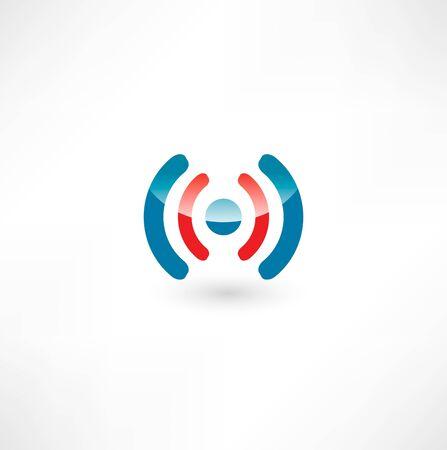 wireless signal:  Wireless Icon Stock Photo