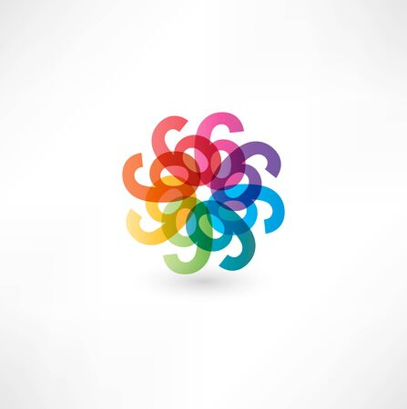 Full color abstract figure of the numbers 6 Stock Photo