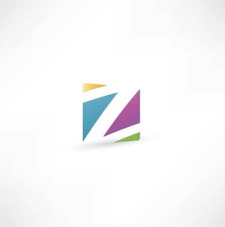 letter z: Abstract icon based on the letter Z