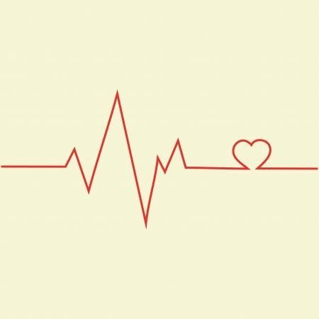 oscillate: Cardiogram Icon Illustration