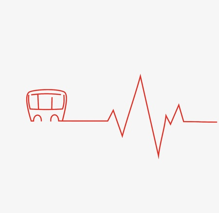 heart monitor: Cardiogram Icon Illustration