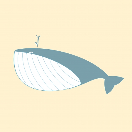 Cute Whale Stock Vector - 17159245
