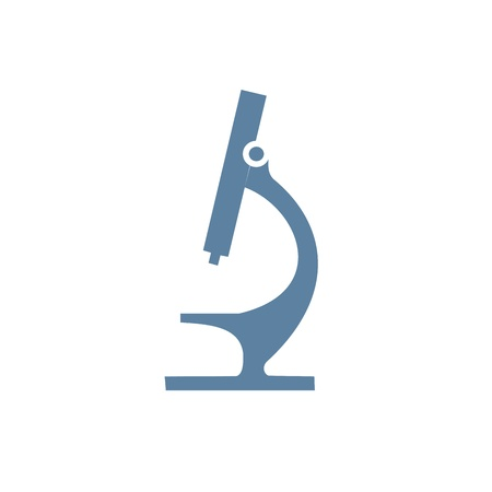 microscope lens: Microscope Icon Illustration