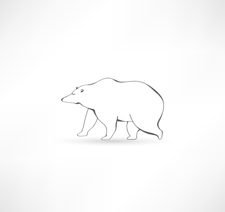 White polar bear  Stock Vector - 17159252