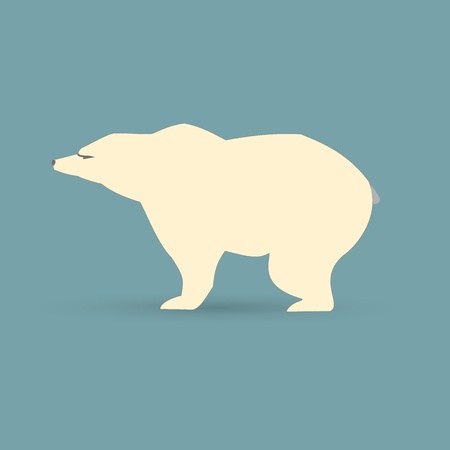 White polar bear  Stock Vector - 17159329