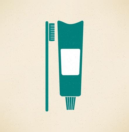 歯磨き粉、歯ブラシのアイコン