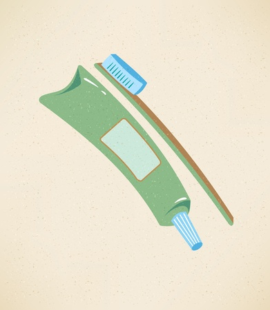 Toothpaste And Toothbrush Icon Stock fotó - 17159331