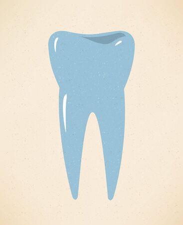 dentist smile: Tooth Icon Illustration