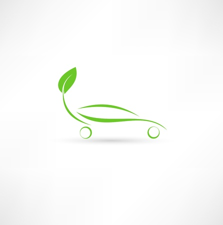 funny car: Eco friendly car Illustration