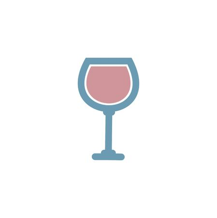 Stylized wine glass Stock Vector - 17259019