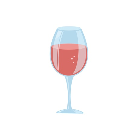 Stylized wine glass Stock Vector - 17259033