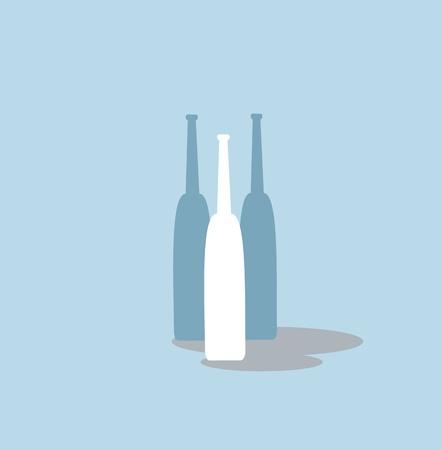 champagne celebration: bottles of wine Illustration