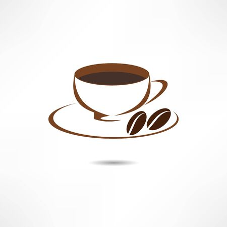 coffee beans: A cup of coffee icon