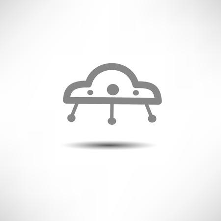 UFO Icon Stock Vector - 17463389