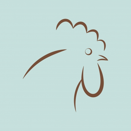 Rooster Icon Stock Vector - 17463293