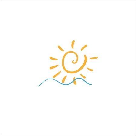 sea waves and rising sun Stock Vector - 17463333