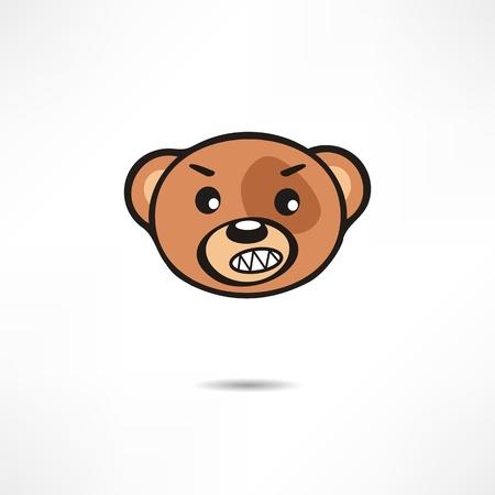 angry bear: Oso enojado.
