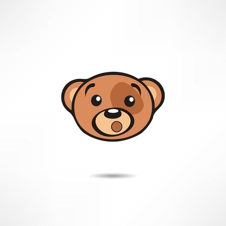 child sitting: Surprised bear.