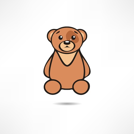 Crying bear. Vector