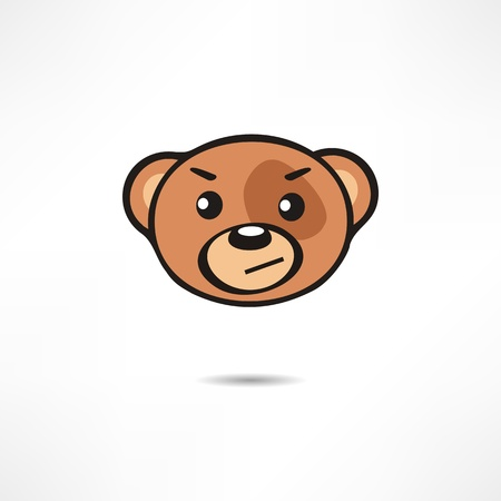 grinning: Grinning Bear. Illustration