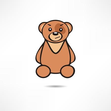 Grinning Bear. 向量圖像