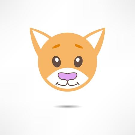 mjau: Smiling cat. Illustration