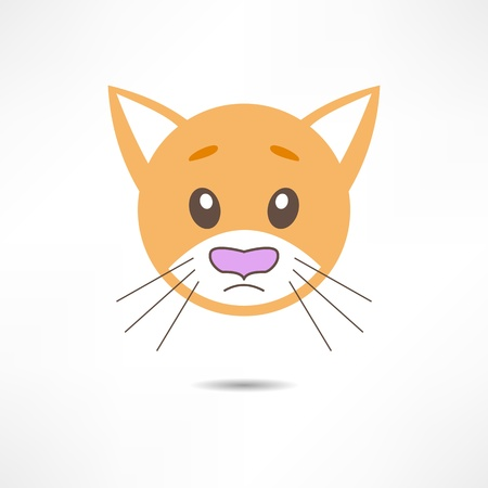 Sad cat. Vector