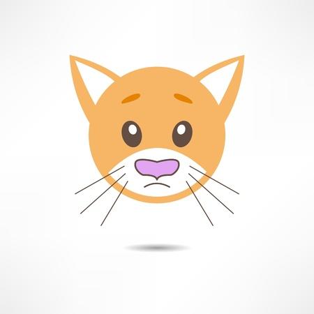 wiskers: Sad cat. Illustration