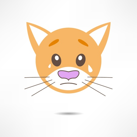 Crying cat. Vector