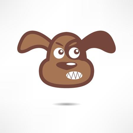 perro furioso: Perro enojado. Vectores
