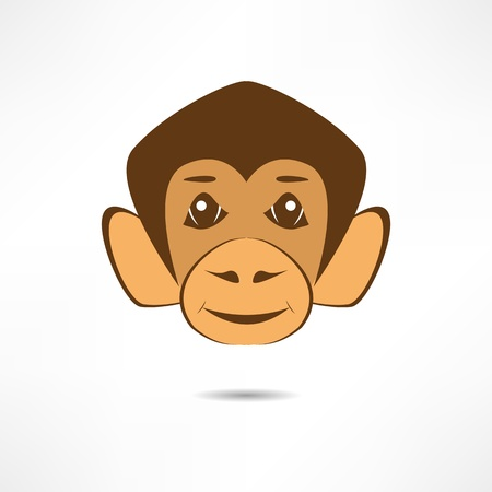 Smiling monkey. Stock Vector - 17463691