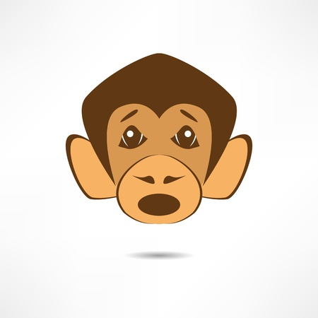 Surprised monkey. Stock Vector - 17463672