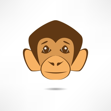 Attentive monkey. Vector